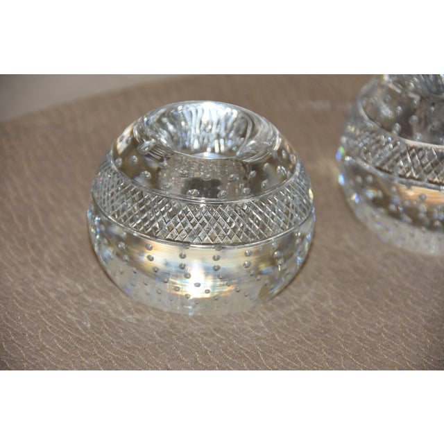 Transparent Mid-Century Crystal Match Holder With Striker Marked Webb For Sale - Image 8 of 12