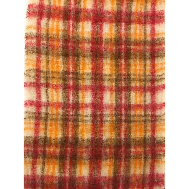 Vintage Mohair Scottish Throw For Sale - Image 4 of 5