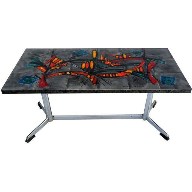 "Signed Vallauris ""La GRANGE""coffee Table For Sale In Miami - Image 6 of 6"