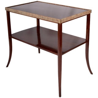 Mahogany Side Table in the Manner of Leleu