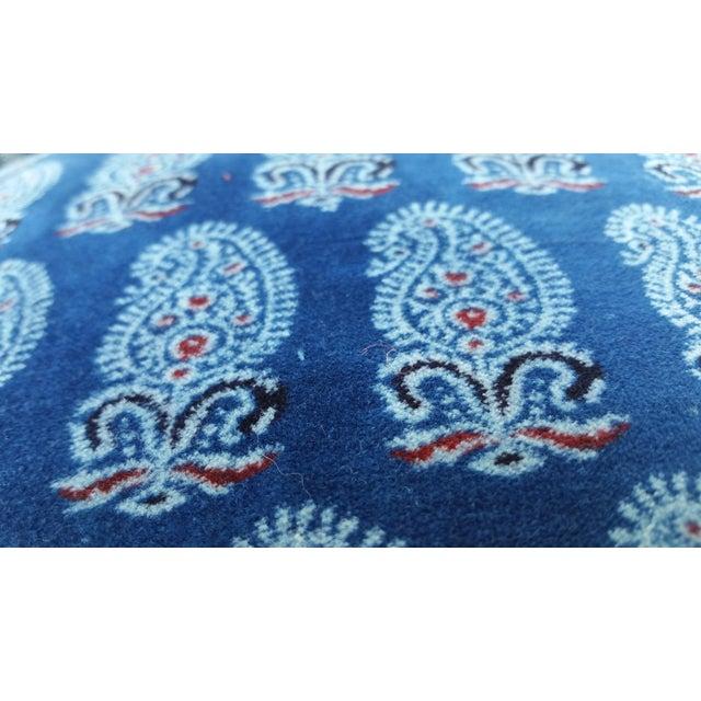 Faded Indigo Velvet Pillows - A Pair - Image 5 of 6