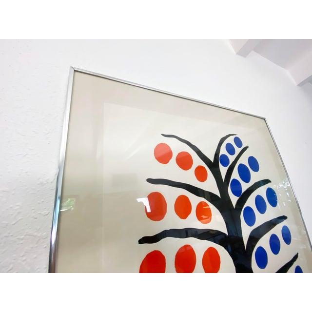 Metal Alexander Calder La Galerie Maeght Exhibition Poster - 1971 For Sale - Image 7 of 10