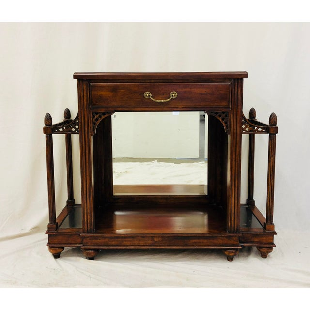 Americana Vintage Entry Way Table For Sale - Image 3 of 12