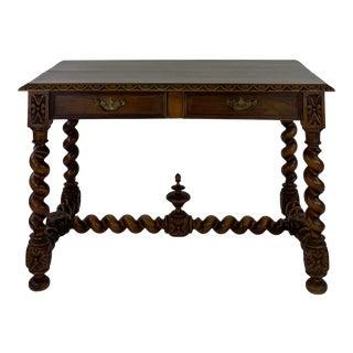 19th Century Barley Twist Writing Desk For Sale