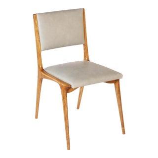 1950s Leather & Wood Italian Chair