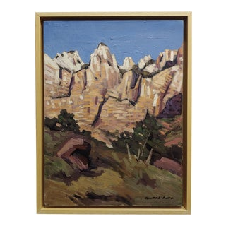 Conrad Buff- Rugged Cliffs Landscape -Oil Painting For Sale