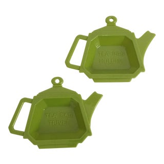 Vintage Teapot Shaped Tea Bag Rests For Sale