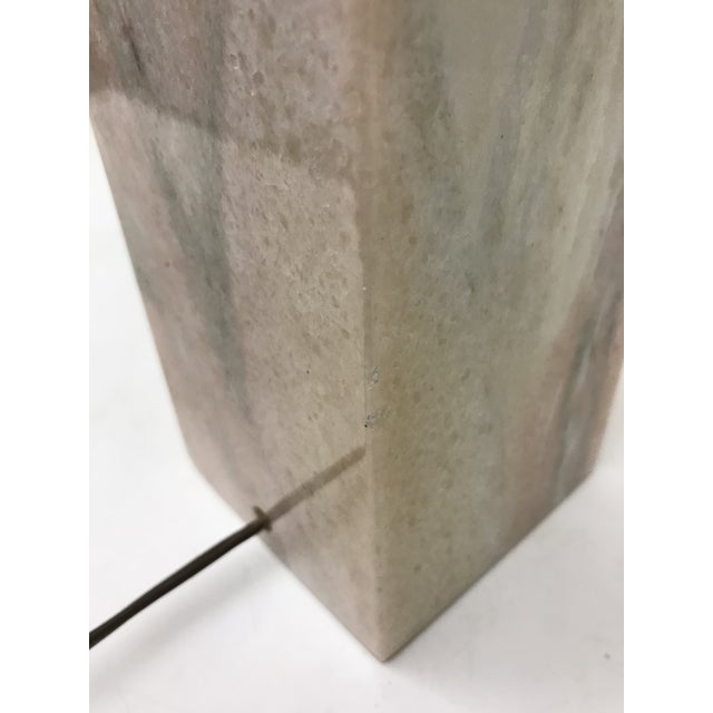 1960s Vermarco Vermont Pink Marble Lamp For Sale - Image 5 of 7