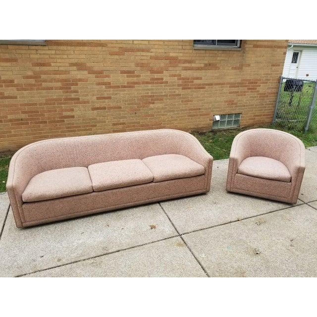 Larsen Furniture Jack Lenor Larsen Low Sofa and Swivel Lounge Chair - A Pair - Image 10 of 11