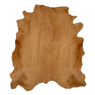 Brown Cow Hide Rug - 7′ × 8′ For Sale