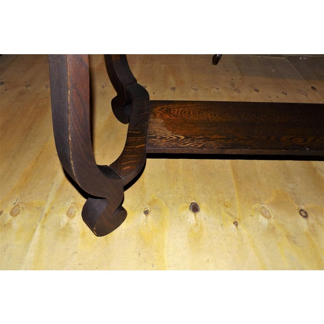 Walnut Antique Walnut Library Desk For Sale - Image 7 of 11
