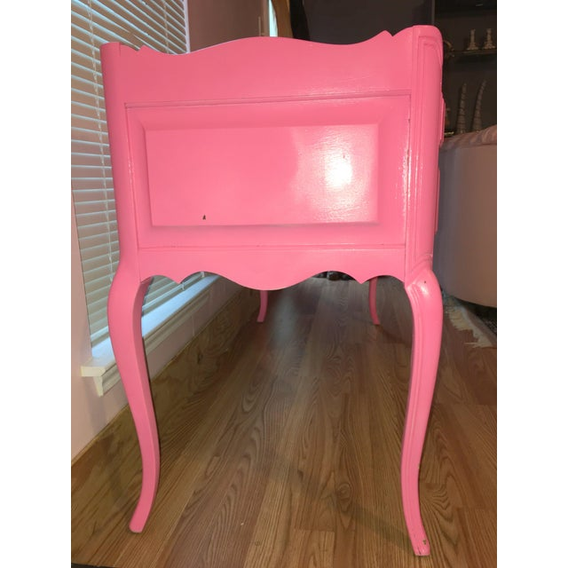 Suga Lane Hollywood Regency French Hot Pink Gold Desk - Image 11 of 13