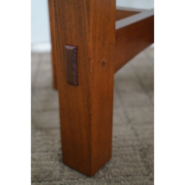 Brown Stickley Mission Style Cherry Octagon Small Side Table Taboret Stand For Sale - Image 8 of 10