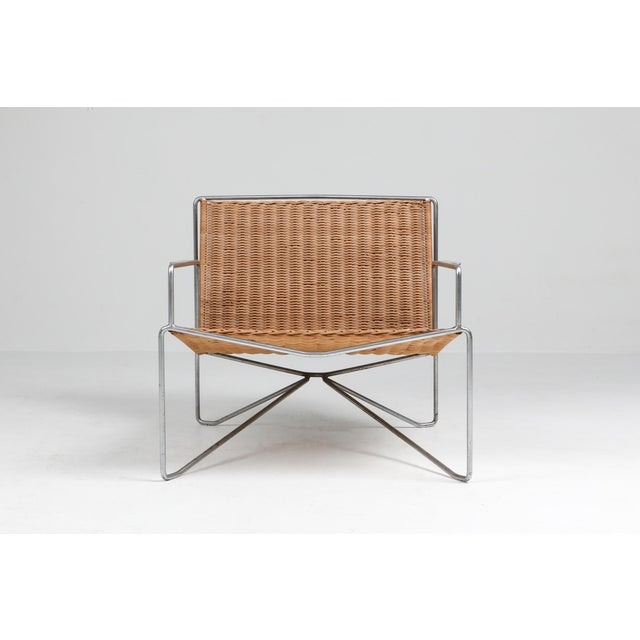 Wicker 1960s Rattan & Steel Armchairs by Gelderland - a Pair For Sale - Image 7 of 13