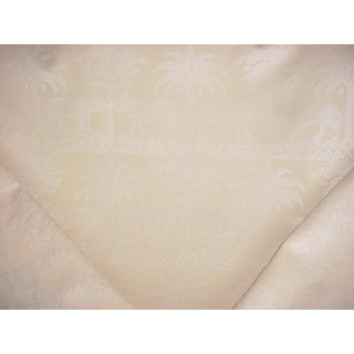 Traditional Kravet Couture 21700 Lion Palm Tree Velvet Drapery Upholstery Fabric - 3y For Sale