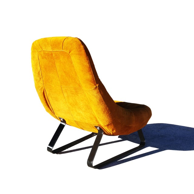 Mid-Century Modern Percival Lafer Brazilian Space Age Earth Lounge Chair and Ottoman For Sale In Portland, ME - Image 6 of 9