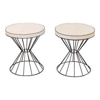 1950s Weinberg Style Wire Stools - a Pair For Sale