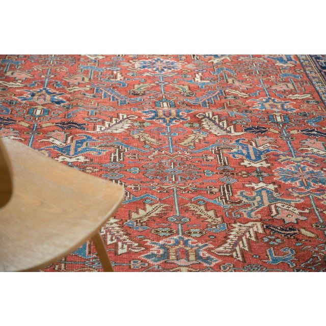"Vintage Heriz Carpet - 7'6"" X 11'1"" - Image 9 of 10"