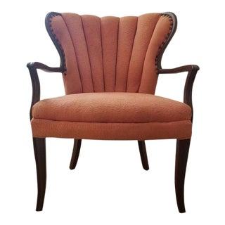 Antique Peach Channel Back Chair