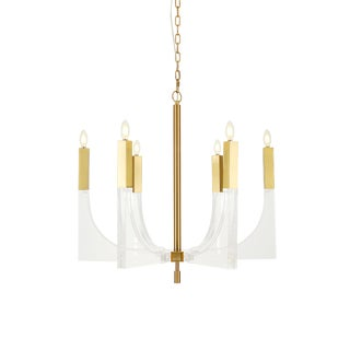 Pasargad Home Omeara 6 Light Candle Style Chandelier Light For Sale