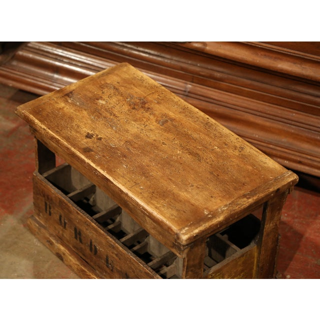Early 20th Century Old French Pine 15 Wine Bottle Storage Cabinet with Bordeaux Inscription For Sale - Image 5 of 8
