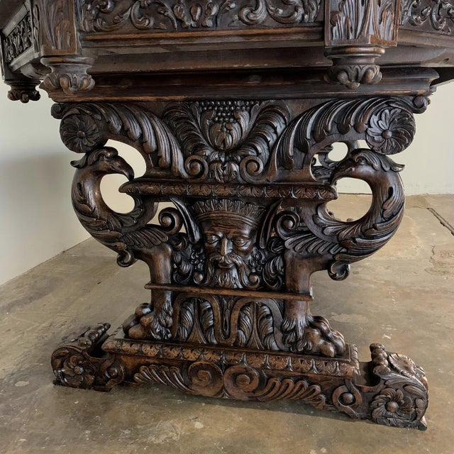 Mid 19th Century 19th Century French Renaissance Octagonal Library Table For Sale - Image 5 of 13