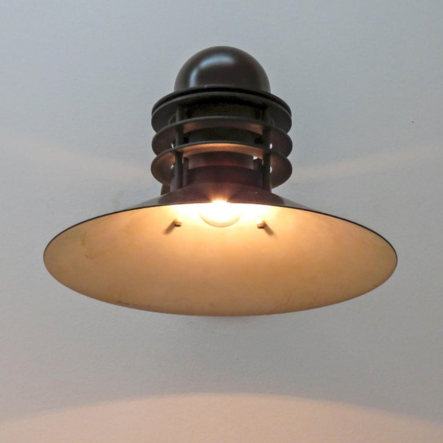 Copper Louis Poulsen Copper Outdoor Lamp, 1970 For Sale - Image 8 of 9