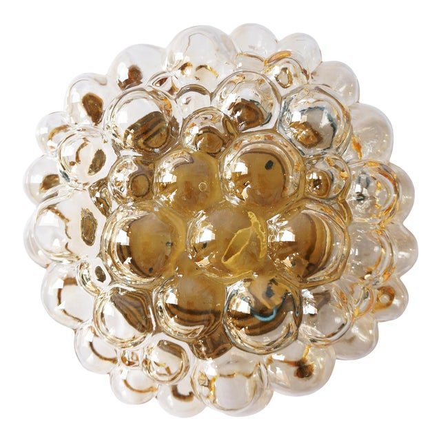 1960s Amber Bubble Flush Mount Sconce by Helena Tynell for Limburg For Sale