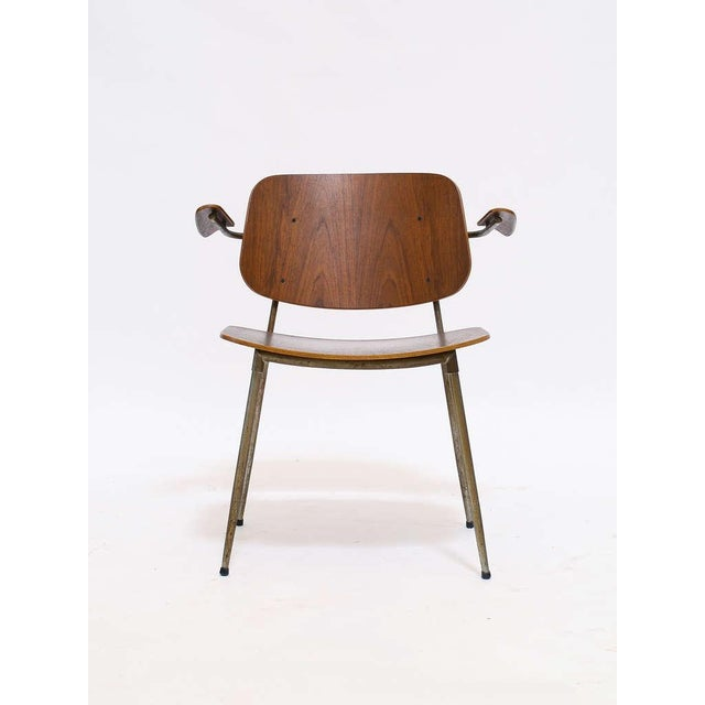 Soborg Mobelfabrik Armchair by Borge Mogensen For Sale - Image 4 of 10