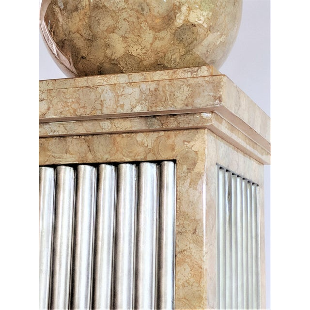 Enrique Garcel Tessellated Stone Pedestal For Sale In Miami - Image 6 of 12