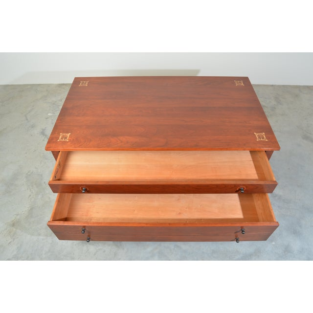 Coffee Harvey Ellis for Stickley Square Storage Cocktail/Coffee Table For Sale - Image 8 of 11