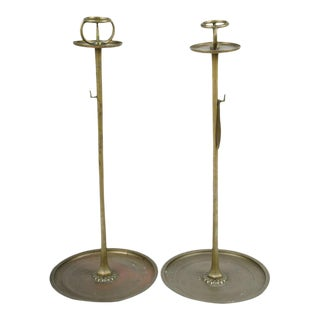 Japanese Metal Candlesticks - A Pair For Sale
