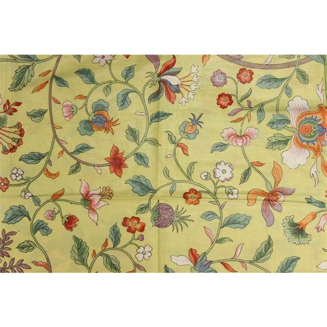 Vintage Porcelain Yellow Glazed Chintz Fabric W/ Multi-Colour Floral Pattern 2 - Image 2 of 2