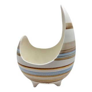 Sascha Brastoff Stripe Abstract Bowl For Sale