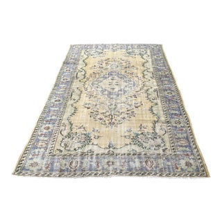 Antique Handmade Tribal Wool Rug - 6′2″ × 9′4″ For Sale