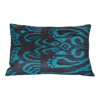Silk Velvet Pillow, Bleu