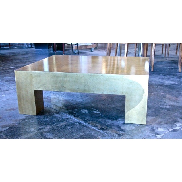 Italian Italian Gold Leaf Coffee Table For Sale - Image 3 of 7