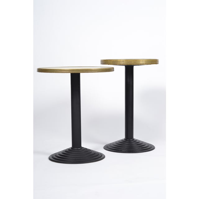 French Art Deco Bistro Tables - Pair - Image 3 of 10