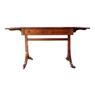 Antique Victorian Rosewood Writer's Desk For Sale