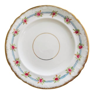 Fine Bone China Victorian Hand Decorated Gilded Luncheon Plates, Set of 10 For Sale