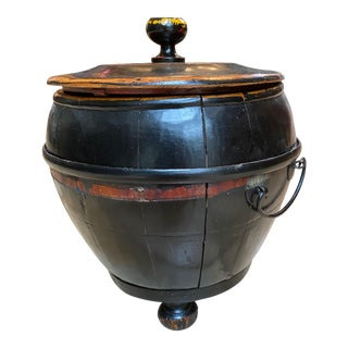 Antique Chinese Grain Barrel With Lid For Sale