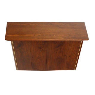 Mid-Century Modern Hanging Walnut Floating Dresser For Sale