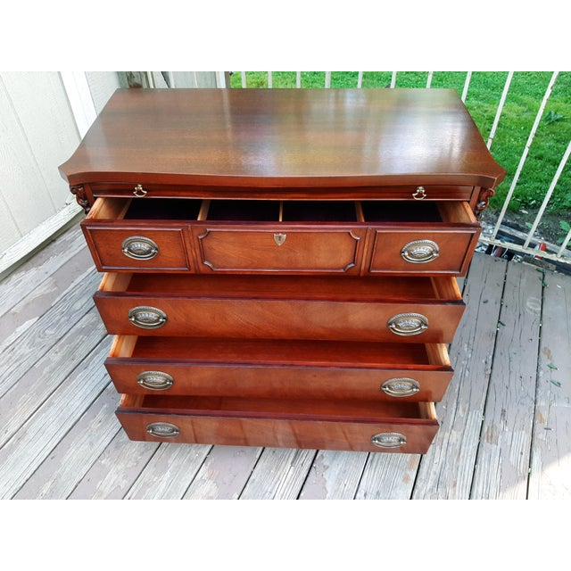 Sienna Vintage 1940's Mahogany 4 Drawer Server Accent Chest For Sale - Image 8 of 13