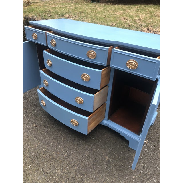 Wood 1950's Drexel New Travis Court Server For Sale - Image 7 of 10