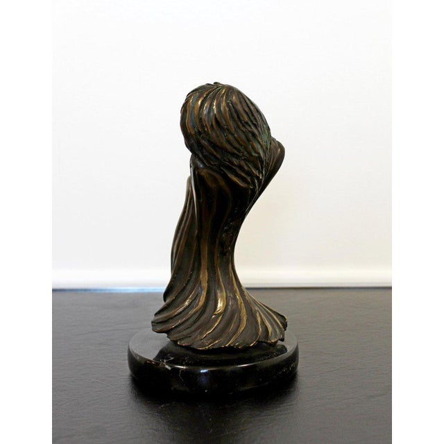 Art Nouveau Contemporary Modern Surrealist Tom Bennett Signed Bronze Marble Sculpture For Sale - Image 3 of 7