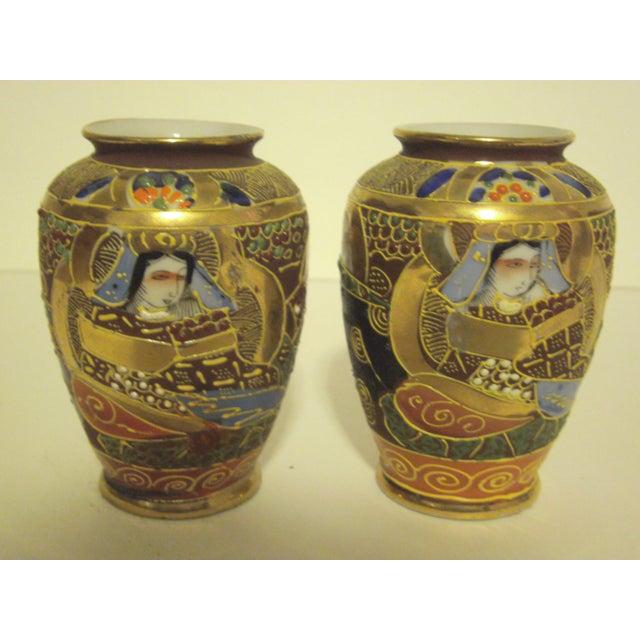 Satsuma Vases & Ginger Jars - Three Pair - Image 9 of 11