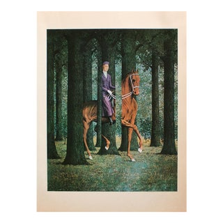 """1972 Rene Magritte, """"Signature in Blank"""" Original Photogravure For Sale"""