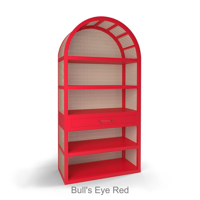 Not Yet Made - Made To Order Leila Etagere Bookcase - Bull's Eye Red For Sale - Image 5 of 5