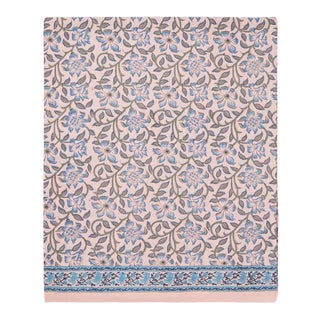 Naaz Twin-XL Bed Dusty Pink Flat Sheet For Sale