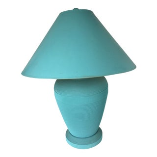 Gregory Van Pelt Style Lamp Turquoise Blue Cardboard For Sale